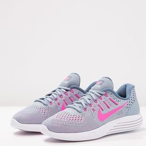 NWT! Nike Lunarglide 8 Running Shoes Grey/Pink